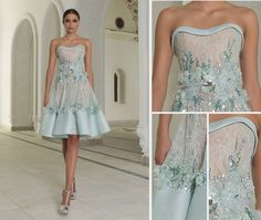 Wow, Gorgeous, beautiful details to recreate. Get that designer look without the designer $$$, have it custom-made. Ask your dressmaker for ideas to achieve this special look.