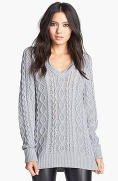 Looks so cozy, esp like the idea of pairing with leather leggings to give it some edge.
