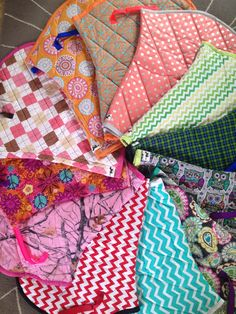 Patterned English saddle pads by WhinneyWear