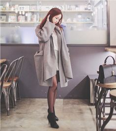 Cherryspoon Gray Coordinated Coat and Muffler SetA coordinated coat and muffler set in a versatile color and style that will look great with anything, anywhere, and anytime is what you have here. Wear this set with your choice of casual, office, or weekend wear for a look that