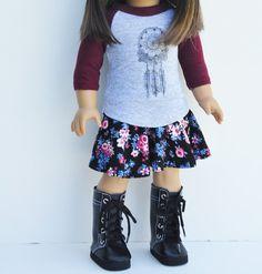 Ropa de la muñeca de ropa de la muñeca del hecho americano
