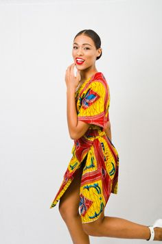 Colorful Easy-to-Wear African Prints with Asiyami Gold ~DKK ~African fashion… South African Fashion, African Fashion Designers, African Inspired Fashion, African Print Fashion, Africa Fashion, African Prints, African Dresses For Women, African Attire, African Women