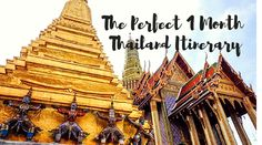The Best 1 Month Backpacking Thailand Itinerary and Route Thailand is one of the best countries to travel to because of its diversity, culture, Thailand Adventure, Thailand Travel Guide, Backpacking India, Backpacking South America, Thailand Honeymoon, Visit Thailand, Best Places To Travel, India Travel, 1 Month