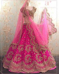 Designer sarees ,indian sari ,bollywood saris and lehenga choli sets. punjabi suits patiala salwars sets bridal lehenga and sarees. and Dupatta is net with embroidery. if you need stitching service or else we send unstitched. Designer Bridal Lehenga, Indian Bridal Lehenga, Indian Bridal Outfits, Indian Bridal Fashion, Indian Gowns, Indian Designer Outfits, Bridal Dresses, Pink Bridal Lehenga, Designer Sarees