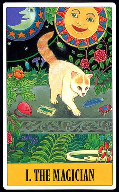 """My favorite kitty...Turkish Van Cat (this is a Taro card I think) """"The Magician"""""""