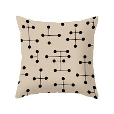 Marked all over with a memorable mid-century pattern, this pillow's style game is on point. It's a classic accent for your sleek modern sofa or favorite chair. Choose either pillow with insert or cover...  Find the Dot Savvy Pillow in Cream, as seen in the Mid-Century Classics Collection at http://dotandbo.com/collections/mid-century-classics?utm_source=pinterest&utm_medium=organic&db_sku=98733