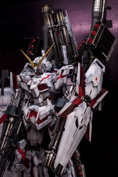 GUNDAM GUY: PG 1/60 Unicorn Gundam + Full Armor Part Set - Painted Build