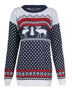 Fast Fashion – Cavalier Manches Longues Rennes Jumeau Flocon De Neige De Noël – Mens