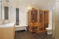 Imagen relacionada Divider, Bathtub, Saunas, Bathroom, Northern Lights, Furniture, Home Decor, Homemade Sauna, Homemade