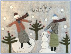 If you LOVE primitives! Penny Rug Patterns, Wool Applique Patterns, Rug Hooking Patterns, Felt Applique, Applique Quilts, Print Patterns, Handmade Christmas, Christmas Crafts, Prim Christmas