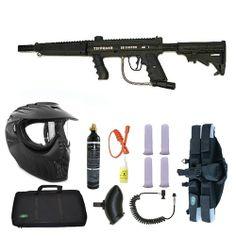 Tippmann 98 Custom PS Paintball Marker Gun 3Skull 4+1 Flatline X-Ray Sniper Set. Available at UltimatePaintball.com