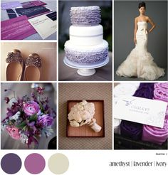 Inspiration Board: amethyst, lavender, & champagne