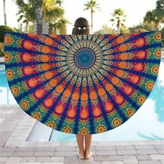 cover-ups for girls Cheap sunbathing, Buy Directly from China Suppliers:Geometric Print Round Serviette De Plage Shower Towel Picnic Blanket Table Cloth Yoga Mat Sunbathe Outdoor Women 2017 cover-ups swimsuit vintage Tapestry Beach, Mandala Tapestry, Tapestry Wall Hanging, Mandala Blanket, Mandala Art, Beach Blanket, Picnic Blanket, Blanket Scarf, Yoga Blanket