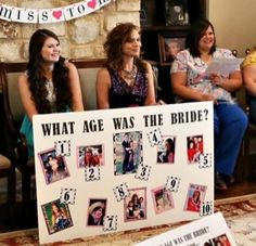 Wedding Shower Game: What Age Was the Bride - pleasureweddingz.compleasureweddingz.com