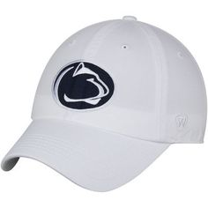 check out 71654 2e0d8 Men s Top of the World White Penn State Nittany Lions Solid Crew Team  Adjustable Hat