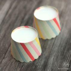 Image of Moules à muffins ou cupcakes à rayures multicolores - par 6 - 2 modèles