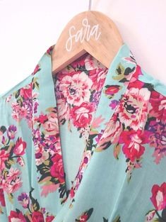 Our super soft floral kimono robes are perfect for you and your bridesmaids to wear while getting ready on the day of the wedding! Choose from floral patterns i Be My Bridesmaid, Brides And Bridesmaids, Bridesmaid Gifts, Floral Bridesmaid Robes, Bridesmaid Ideas, Wedding Events, Our Wedding, Dream Wedding, Flower Girl Robes