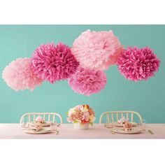 Amazon.com: WOM-HOPE® 15 Pack - 10 Inches Tissue Paper Pom Pom Flower Ball Pom-poms - Wedding Party Supplies Decorations Birthday Parties and Baby Showers Party Decorations Party Tissue Pom Poms (Light Purple): Health & Personal Care