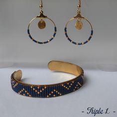 p1180932-001 Beaded Earrings, Beaded Jewelry, Beaded Bracelets, Motifs Perler, Bijoux Diy, Loom Beading, Jewelry Crafts, Jewelery, Jewelry Making