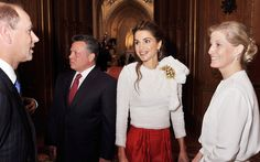 The Earl and Countess of Wessex talk to King Abdullah II and Queen Rania of Jordan  Picture: John Stillwell/PA
