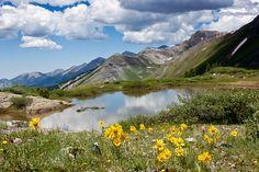 Lake on Imogene Pass, San Juan Mountains, Colorado, USA