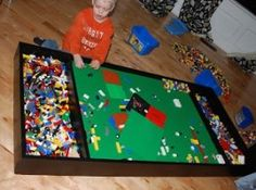 underbed lego or train table - Google Search
