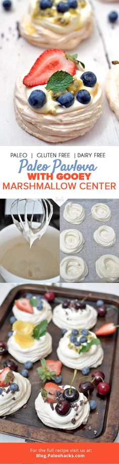 This delicate meringue shell with a gooey marshmallow center will intoxicate your taste buds. Pavlovas are a classic Australian dessert—decadent and utterly exquisite! Get the recipe here: http://paleo.co/pavlovarcp