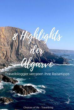 Ich freue mich ganz doll, euch heute zusammen mit weiteren Reisebloggern unsere 8 Highlights der Algarve vorzustellen: der beste Surfspot, der schönste Aussichtspunkt, die spektakulärste Trekkingtour und tolle Wanderrouten warten auf euch  Viel Spaß!