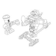 Leuk voor kids kleurplaat ~ Lego Nexo knights - ridder Axl