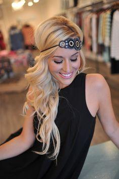 Dottie Couture Boutique - Boho Beaded Headband- Navy, $16.00 (http://www.dottiecouture.com/boho-beaded-headband-navy/)