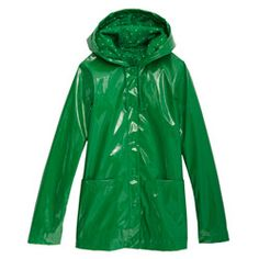 Stay dry during April showers in this splashy, fully lined Xhilaration green jacket.