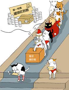 當所有貓都穿紅色,誰會是幸運兒?  〈寵物狂想曲〉尾牙摸彩大鬥法 - 貓小姐的光陰筆記 - udn部落格