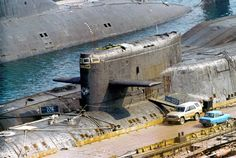 Delta I class submarines in late '90's waiting for scrapping