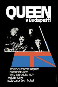 Queen at Budapest Concert Poster 1987
