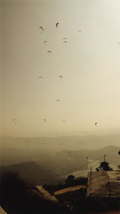 Paragliding, Pokhara. Nepal