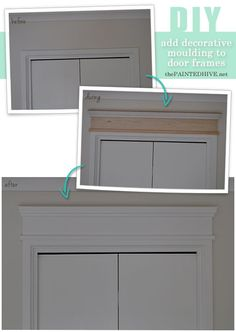 How to add decorative trim to door frames