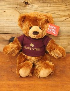 Cuddle up with this Bobcats fan Bear! GO TEXAS STATE