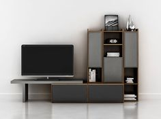 Modern Wall Unit Lyrics 06 by Up Huppe - $4,862.00