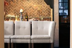 Gabby's unique and versatile Cooper and Conrad barstools are the perfect conversational piece for your home!