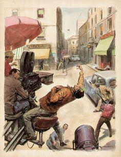 Walter Molino Original ART Cover FOR Grand Hotel Magazine 1950s | eBay