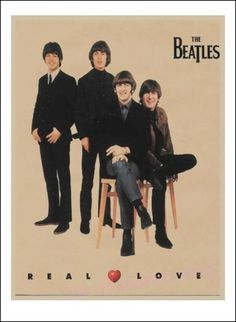 Rock music poster vintage The Beatles poster retro nostalgia kraft paper decorative painting wall sticker /2003