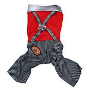 Stripe Shirt with Suspender Trousers for Dogs... – USD $ 13.99