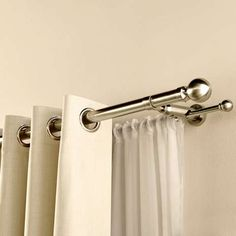 To hang voiles and duck egg curtains