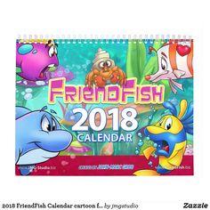 2018 FriendFish Calendar cartoon fish