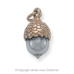 Gold & Silver Acorn Charm from James Avery