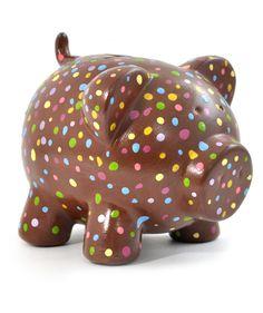 Chocolate puntos de Colores - Alcancía. $30.000 COP. Cómprala aquí--> https://www.dekosas.com/productos/regalos-originales-dekosas-oing-oing-alcancia-basica-chocolate-detalle