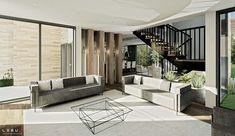 Plan de Maison Moderne Ë_118 | Leguë Architecture Flat Interior, Interior Design, Plane Design, Flat Roof, Dream House Plans, Best Investments, Construction, Contemporary, How To Plan