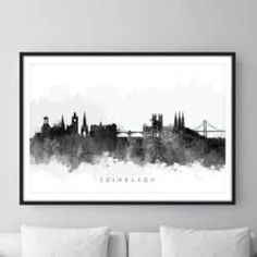 edinburgh skyline watercolour - Google zoeken Edinburgh, Watercolour, Skyline, Tapestry, Google, Home Decor, Pen And Wash, Hanging Tapestry, Watercolor Painting