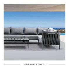 The all new Santa Monica sofa brings warmth and luxurious comfort to any outdoor space. The modular elements allow you to create your own unique configuration. See our website for more.