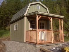 A Tuff Shed could very well be your answer for creating new living spaces. Many people have found that they can use Tuff Shed's to create a backyard retreat or office, a fun clubhouse for the… Tiny Cabins, Tiny House Cabin, Cabins And Cottages, Tiny House Living, Cabana, Tuff Shed, Shed Homes, Tiny Homes, Storage Shed Plans